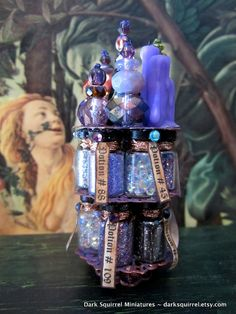 Sorcerers Potion Tower dollhouse miniature ooak in by DarkSquirrel
