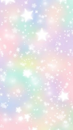 Pastel stars iPhone wallpaper