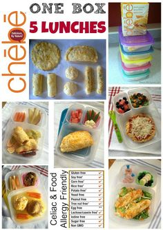 Use substitutions to make VEGAN! Some decent ideas though . Keeley McGuire: Lunch Made Easy: Chebe Gluten Free Mix - One Box, Five Lunches Easy Lunch Boxes, Lunch Ideas, Dairy Free, Gluten Free, Grain Free, Good Food, Yummy Food, Paleo Food, Fun Food