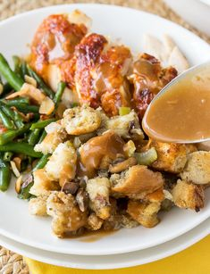 This Crock Pot Stuffing is always a favorite for Thanksgiving and Christmas! I love that it saves room in the oven for the turkey! -- Needs a bit of tweaking for Keto. Maybe use Sage Sausage. Slow Cooker Sausage Stuffing Recipe, Sausage Crockpot, Stuffing Recipes, Crockpot Recipes, Healthy Recipes, Homemade Stuffing, Thanksgiving Sides, Thanksgiving Recipes, Holiday Recipes