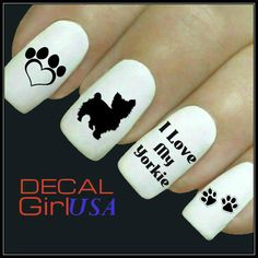 Hey, I found this really awesome Etsy listing at https://www.etsy.com/listing/179721540/yorkie-nail-art-decals-32-yorkie-nail