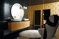 Cerasa by Lime Black Maori Bathroom Design Collection Black And Gold Bathroom, Italian Bathroom, Contemporary Bathroom Designs, Warm Colors, Mirror, Bathrooms, Furniture, Collection, Style Ideas