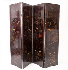 Vintage Asian wooden screen