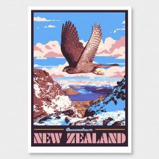 Queenstown Art Print (Vintage Travel Series) by Ross Murray Graphic Posters, Graphic Art, Poster Prints, Framed Prints, Art Prints, Tourism Poster, Travel Posters, Craft Beer Labels, New Zealand Art