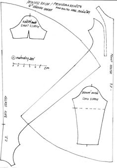 Barbie dress pattern /patroon