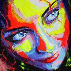 """Yuliya Vladkovska; Acrylic, 2011, Painting """"Eva's mystic look"""""""