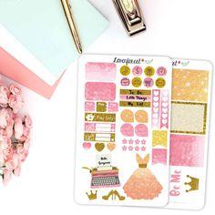 glamorous planner sticker for erin condren planner, happy planner, mini kit,  MK002