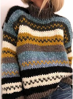 Knitting Designs, Knitting Patterns Free, Vest Pattern, Fair Isle Knitting, Clothes Crafts, Casual Sweaters, Pulls, Knit Crochet, Knitwear