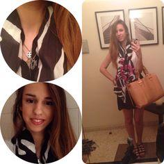 #shineonbyandrea #monogram #ootd #preppyandrea94 #classy #preppy #scarfs #accesories #blog