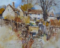 We are excited to be making our first film with Chris Forsey RI this week to be called Beyond Watercolour. Chris is a highly talented art. Watercolor Architecture, Watercolor Landscape, Abstract Landscape, Landscape Paintings, Watercolor Paintings, Abstract Art, Watercolours, Oil Paintings, Landscapes