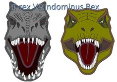 T-rex VS Indominus Rex machine embroidery applique by artapli Toddler Dinosaur Costume, Dinosaur Head, Machine Embroidery Applique, Embroidery Files, Applique Designs, Embroidery Designs, Indominus Rex, Interactive Cards, Stitch Design