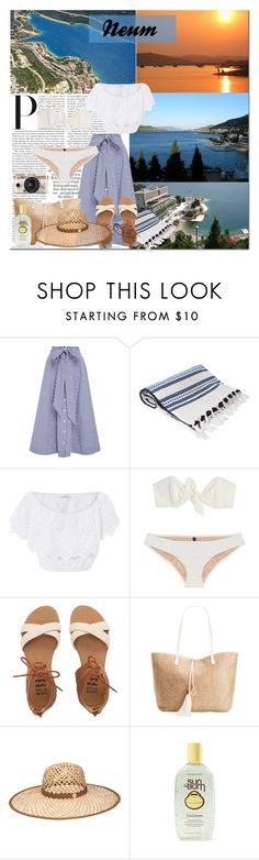 """Summer in Neum"" by hancicaf on Polyvore featuring Lisa Marie Fernandez, Elina Lebessi, Miguelina, Billabong, INC International Concepts, Henri Bendel, Urban Outfitters and country"