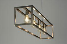 Hanglamp 87313: Modern, Design, Staal , Rvs