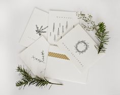hand-drawn Christmas cards