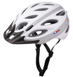 LED lights embedded in the helmet.--AU-L001 bike helmet with LED light