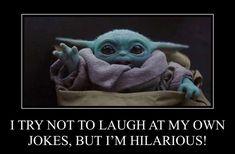 Yoda Meme, Yoda Funny, Joker Clown, Hilarious, Funny Shit, Funny Stuff, Morning Memes, Really Funny Pictures, Kid Memes