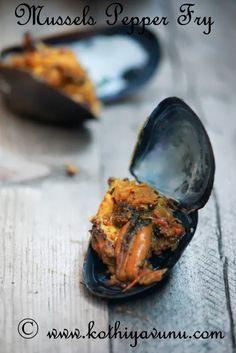 Kallumakkaya Irachi Pepper Fry - Mussels Pepper Fry