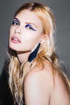 blue makeup Masha Gutic by Eli Schmidt for Allure