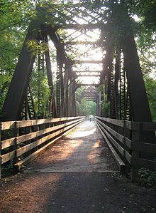 PA Grand Canyon rail trail-- reminds me of my fav bridge on Cornwall rail trail!