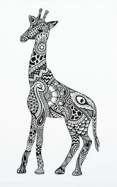 Image result for giraffe black and white