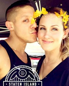 Snap-Chat  This is SWEET! I love the butterflies in Meghan hair! Candy Kisses from Theo Rossi! ks😋🍬💋