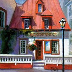 Diann Haist - Cafe Anciens- Oil - Painting entry - October 2014   BoldBrush Painting Competition
