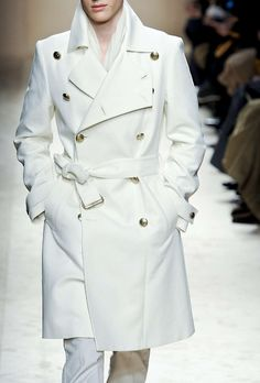 Images of Mens White Trench Coat - Reikian