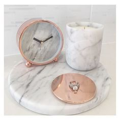 Obsessed with our Marble & Rose Gold range www.florenceandha… Obsessed with our Marble & Rose Gold range www. Rose Gold Rooms, Rose Gold Decor, Room Decor Bedroom Rose Gold, Marble Room Decor, Rose Gold Bathroom Set, Gold Home Decor, Diy Bedroom, Make Up Organizer, Deco Rose