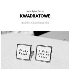 #kwadratowe #spinkidomankietow #prezent #ślub #spinkiplus #slub #personalizowane Dowolny wzór www.spinkiplus.pl #dlaniego