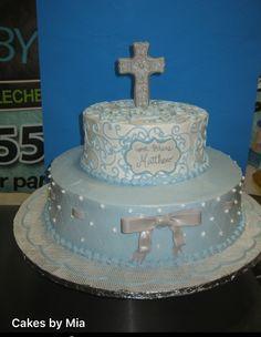 Cute cakes by #CakesByMia #Miacakes4U  #DominicanCake 201-553-2424.    6002 Fillmore Pl - WNY - NJ #BIZCOCHO #HAPPYBIRTHDAY #Cake #baptism #Christening #communion