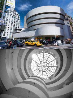 The Solomon R. Guggenheim Museum, New York, NY. Designed by Frank Lloyd Wright.