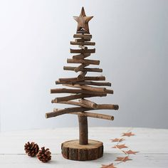 Twig Christmas trees are a rustic alternative                                                                                                                                                                                 More