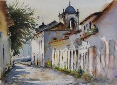 Fernando Pena Had omitted to publish this. It was part of the announcement of the 8 meeting of watercolourists of paraty Watercolor Artists, Artist Painting, Watercolor Paintings, Watercolour, Landscape, Announcement, Paraty, Feather, Drawings