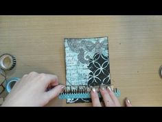 Made by Sannie: Stencil card with video tutorial