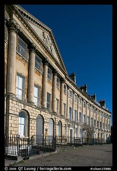 Lansdown Crescent. Bath, Somerset, England.  Lets take a walk and meet one of Georgette Heyer's many gorgeous protagonists.