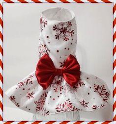 Snowflake Princess Dog Dress by FourFootedFashions on Etsy, $30.00