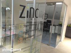 Single Glazed Glass Office Partitioning with Framed Doors & Pull Handles Glass Office Partitions, Glass Partition, Glass Signage, Office Signage, Breakout Area, Glazed Glass, Pull Handles, Window Film, Glass Panels