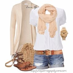 Casual summer day-yes for summer clothes clothes style summer outfits Cute Summer Outfits, Spring Outfits, Casual Outfits, Casual Summer, Summer Clothes, Style Summer, Summer Dresses, Summer Chic, Outfit Summer