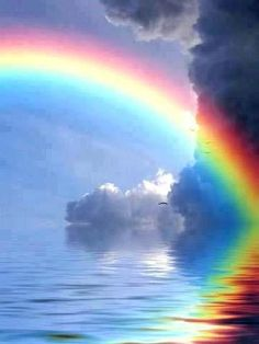 The term cloud iridescence - aka irisation - comes from Iris, the Greek personification of the rainbow. True iridescent clouds are relatively rare. Rainbow Magic, Rainbow Sky, Love Rainbow, Rainbow Colors, Rainbow Heart, Beautiful Sky, Beautiful World, Pretty Pictures, Cool Photos