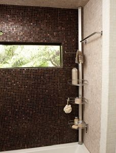 valet de douche caddy extensible 6 9 salles de bain pinterest - Valet De Salle De Bain