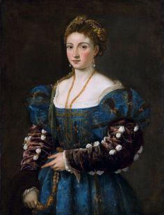 Titian, La bella (1536), the Palazzo Pitti in Florence