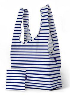 PrettyCoolBags sailor stripe big einkaufsbeutel baggu