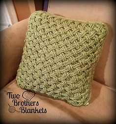 Celtic Weave Pillow Cover  crochet pattern by Two Brothers Blankets! Crochet  Pillow Pattern 36bd1419b