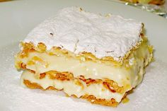 Ioanna's Notebook - Easy millefeuille with store bought puff pastry Greek Recipes, Vanilla Cake, Lasagna, Sweets, Cookies, Ethnic Recipes, Notebook, Easy, Desserts