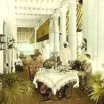 Colonial dining in British India, 1895