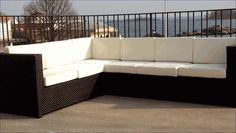 Outdoor Wicker Sectional-for Patios & More via @wickerparadise #outdoor #wicker #patio #sectional #sofas www.wickerparadise.com