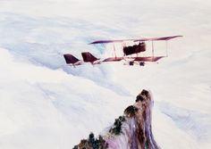 John Walsh, 2014, The Henri Farman, oil on board, 350 x 500mm