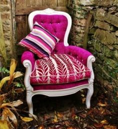 A beautiful Salon Chair Upholstered by @Fathers Shed & FEiRD Furniture