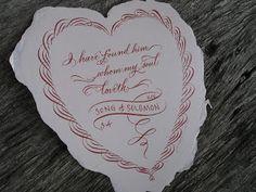 A Place To Flourish: Calligraphy Valentine Cards - Flourish Friday