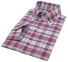 Luxire Button down collar shirts. http://custom.luxire.com/products/maroon-white-ecru-oxford-checks